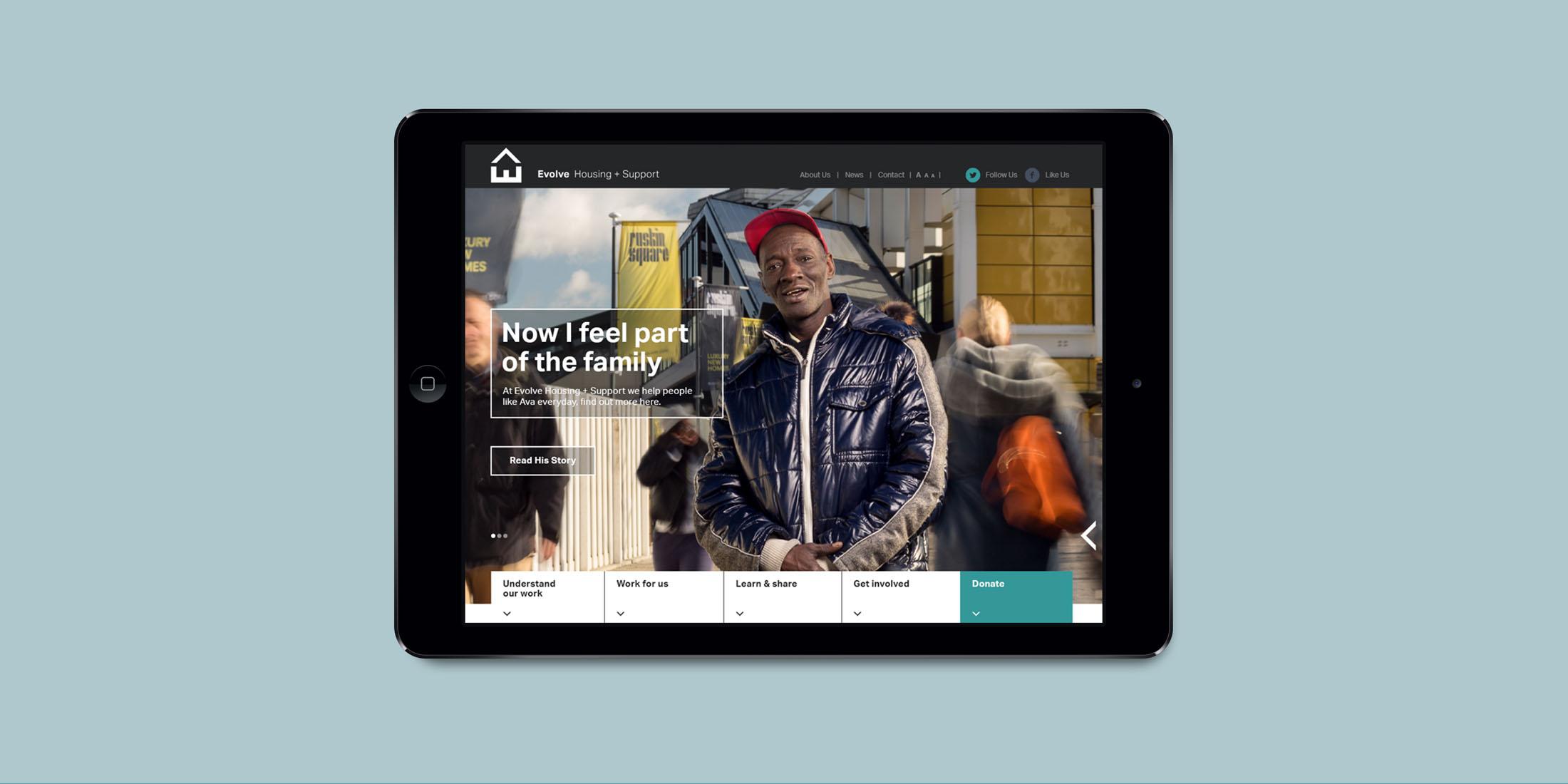 Evolve site on iPad