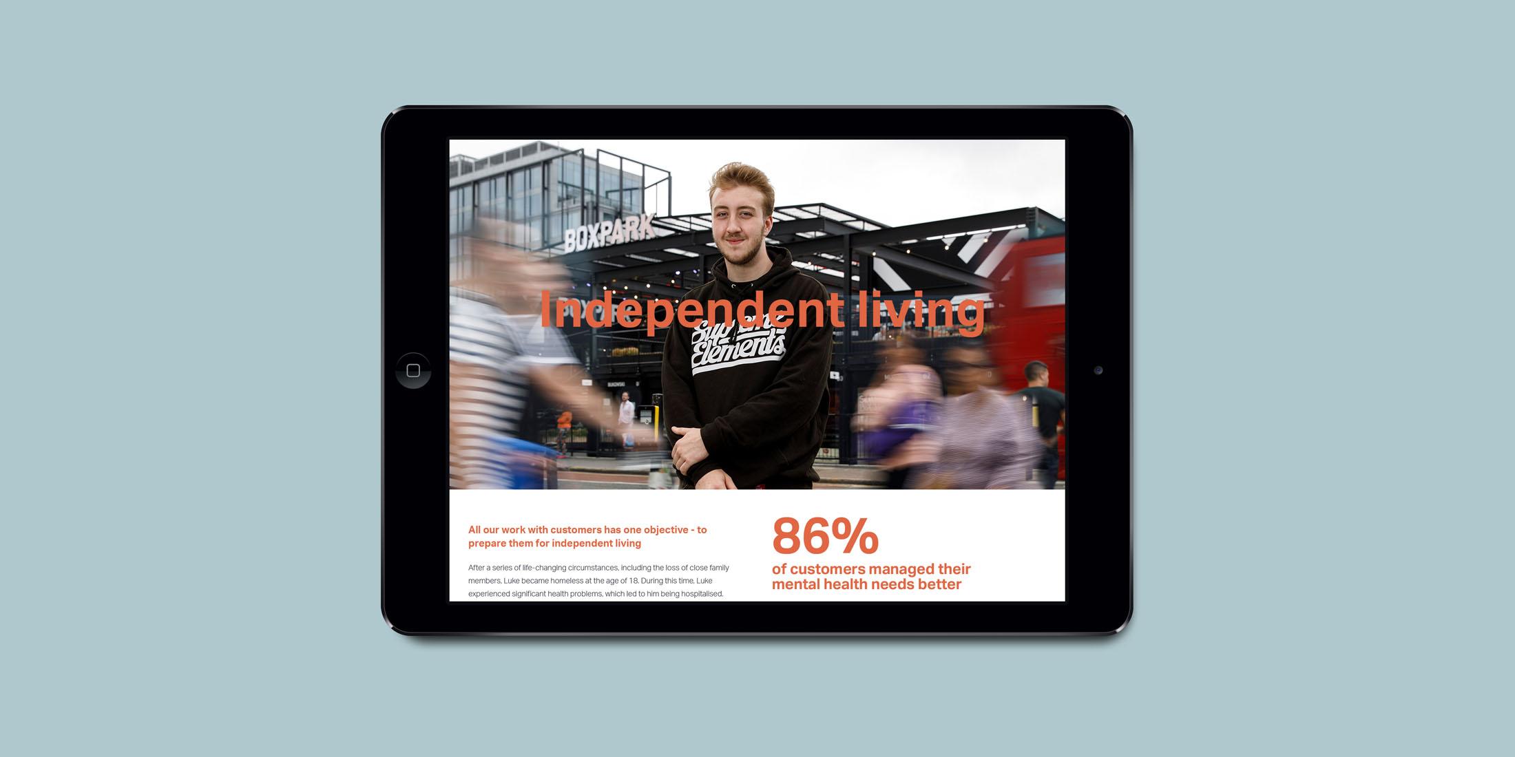 Evolve annual report site