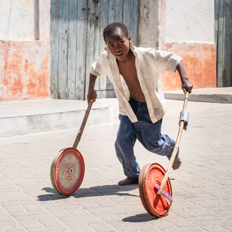 Boy with wheels