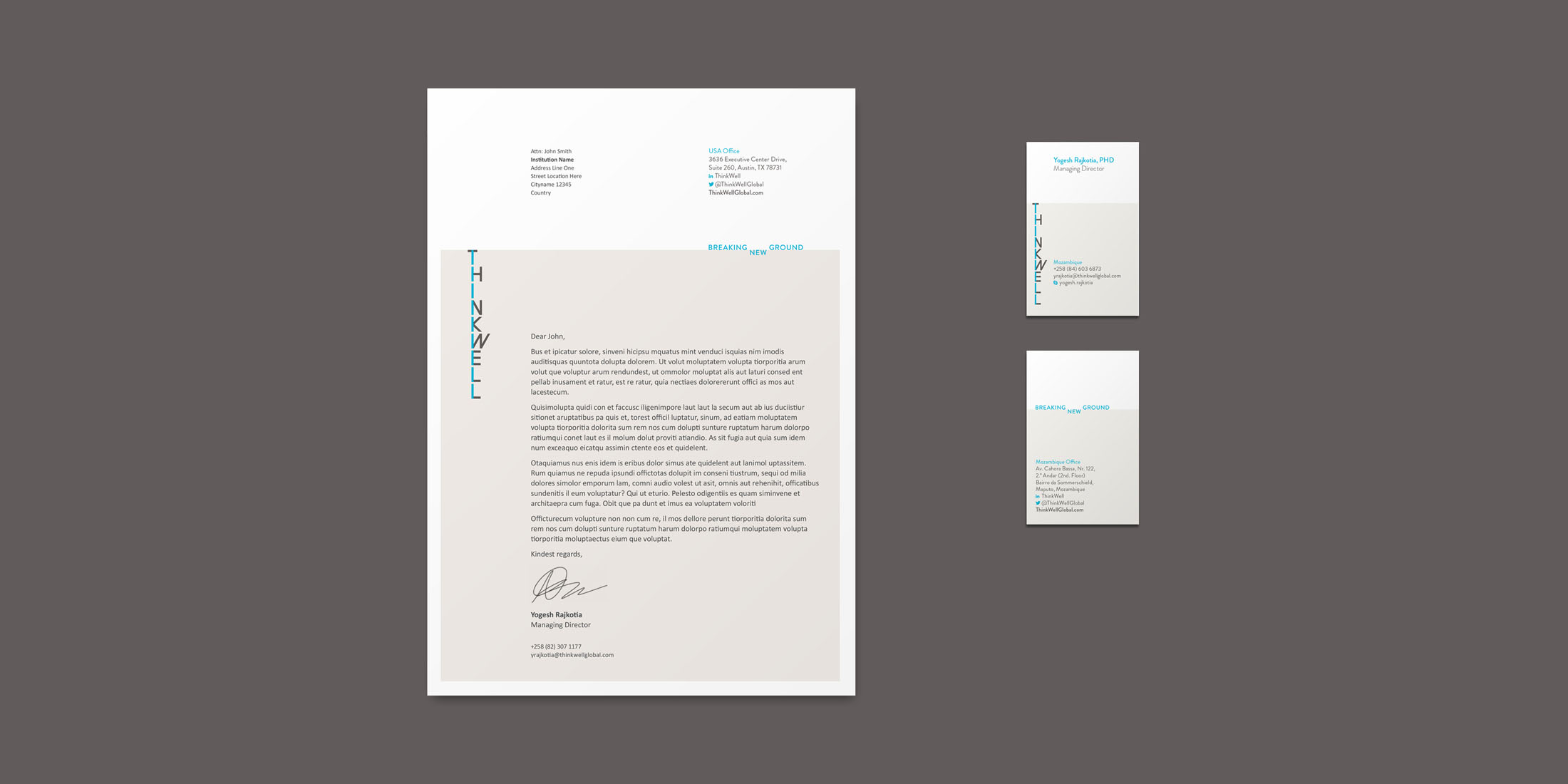 Thinkwell stationery