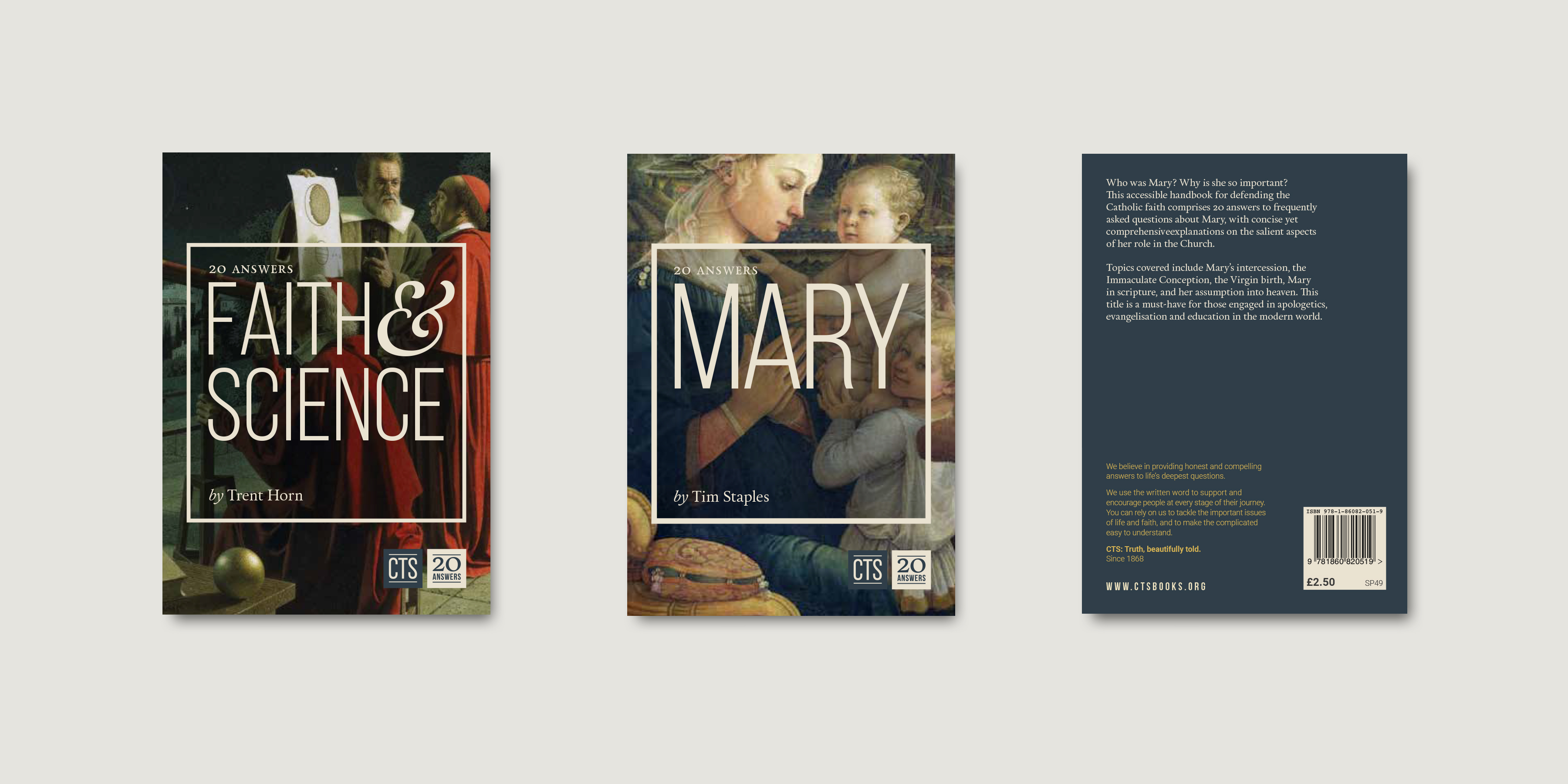 Book covers and reverse for Catholic Truth Society