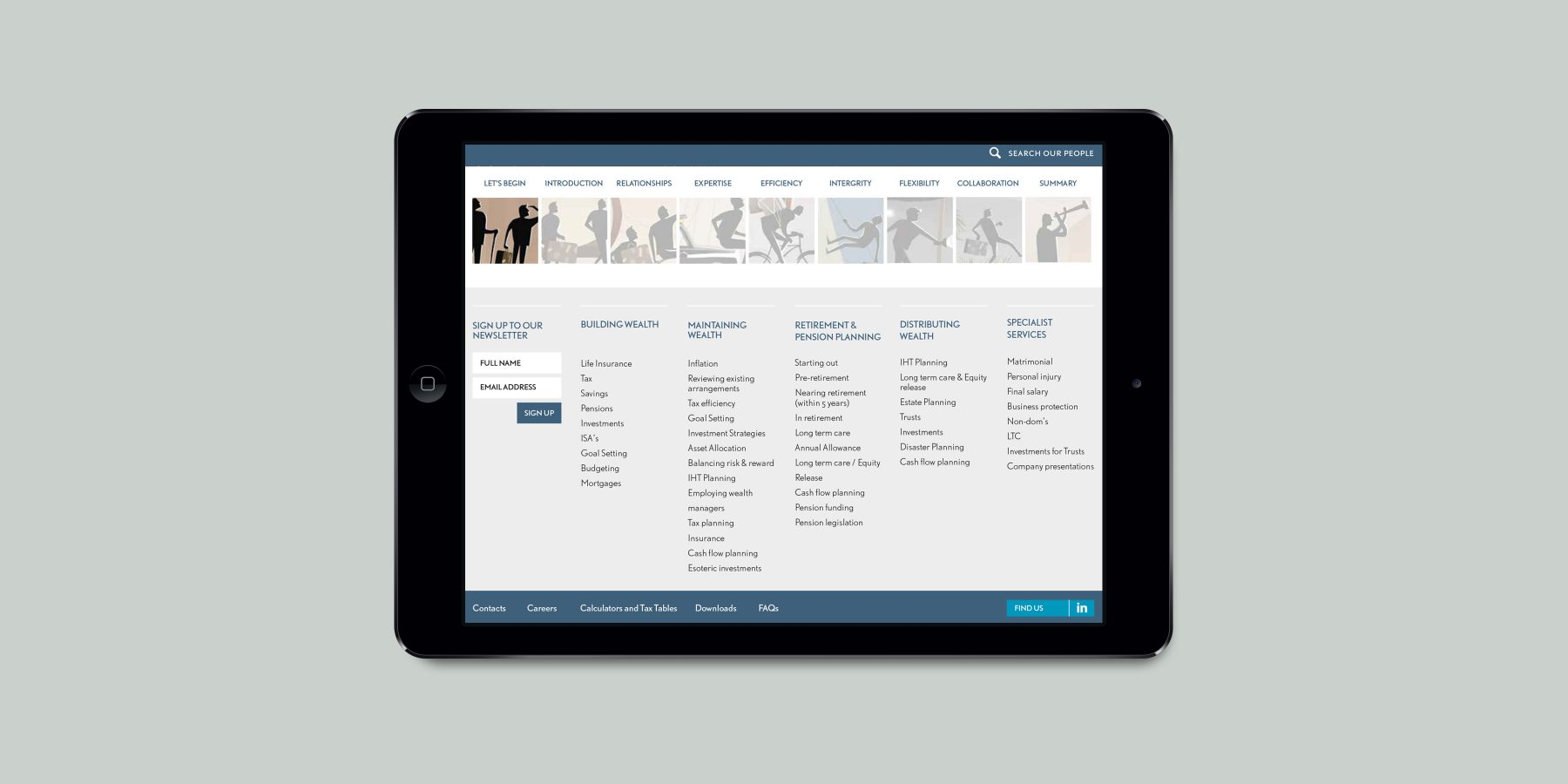 Punter Southall iPad