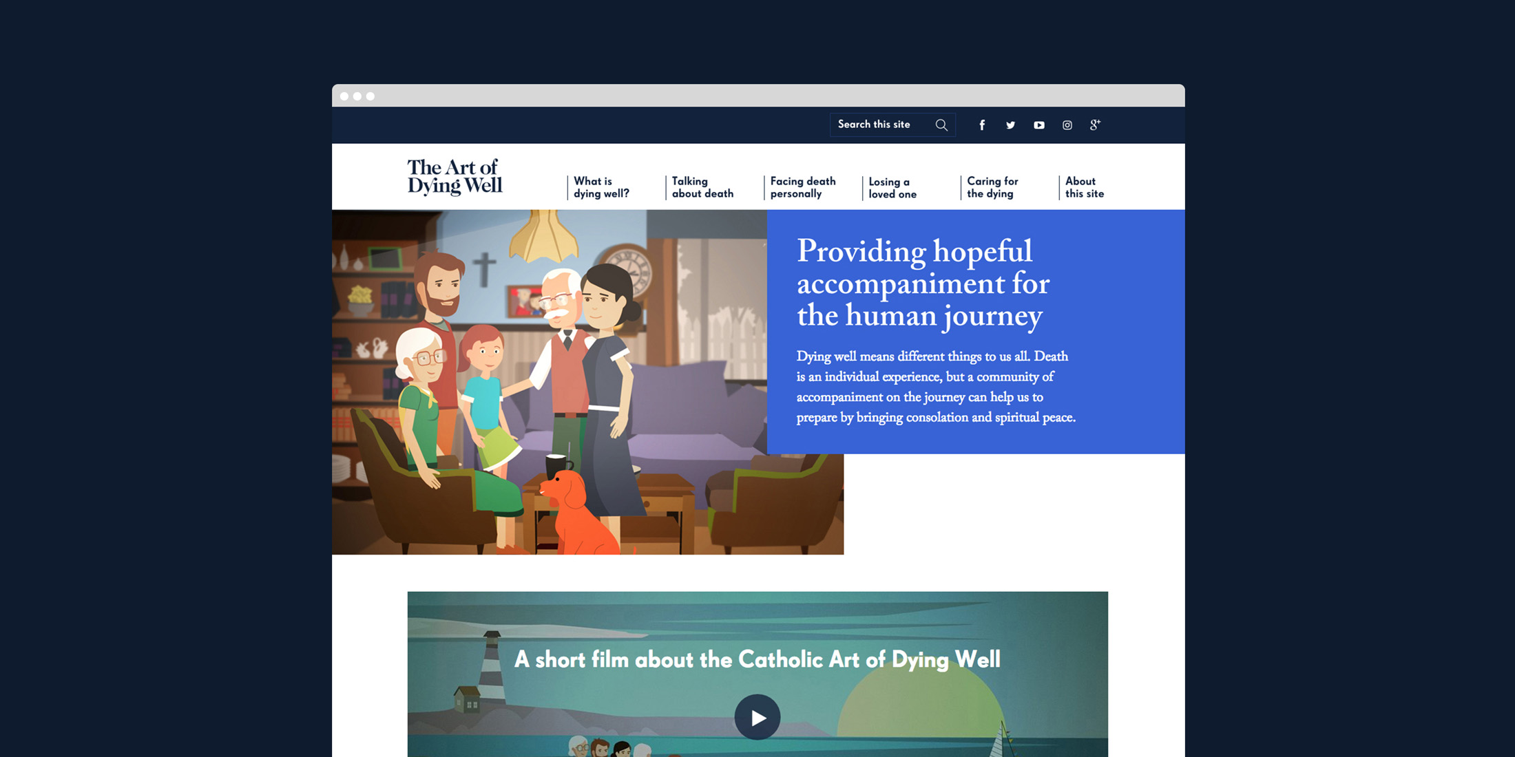 The Art of Dying Well homepage