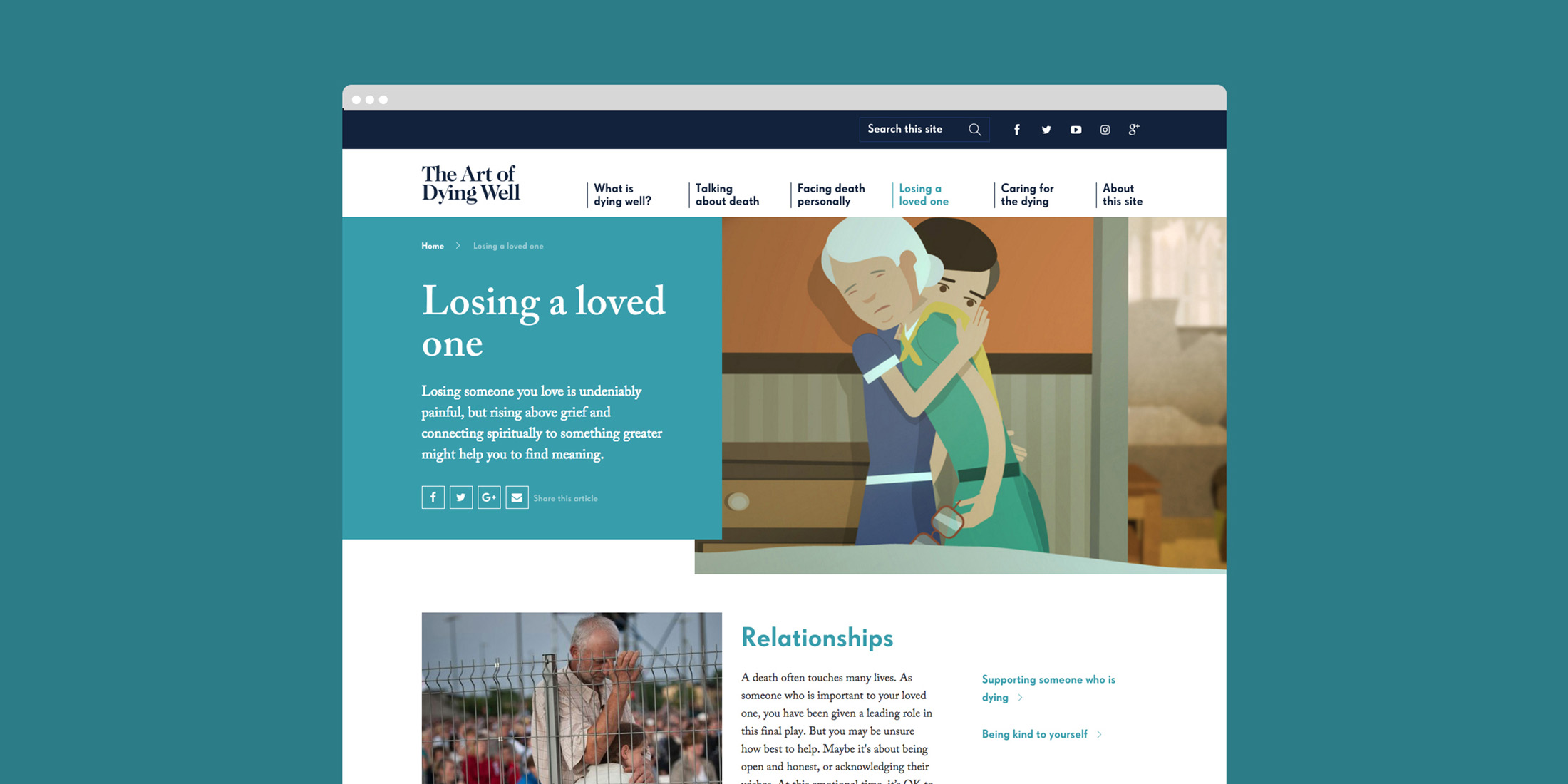 The Art of Dying Well landing page