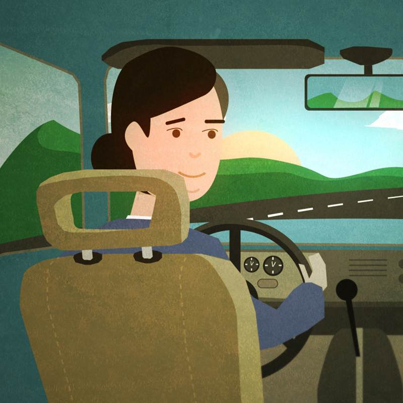 Driving illustration