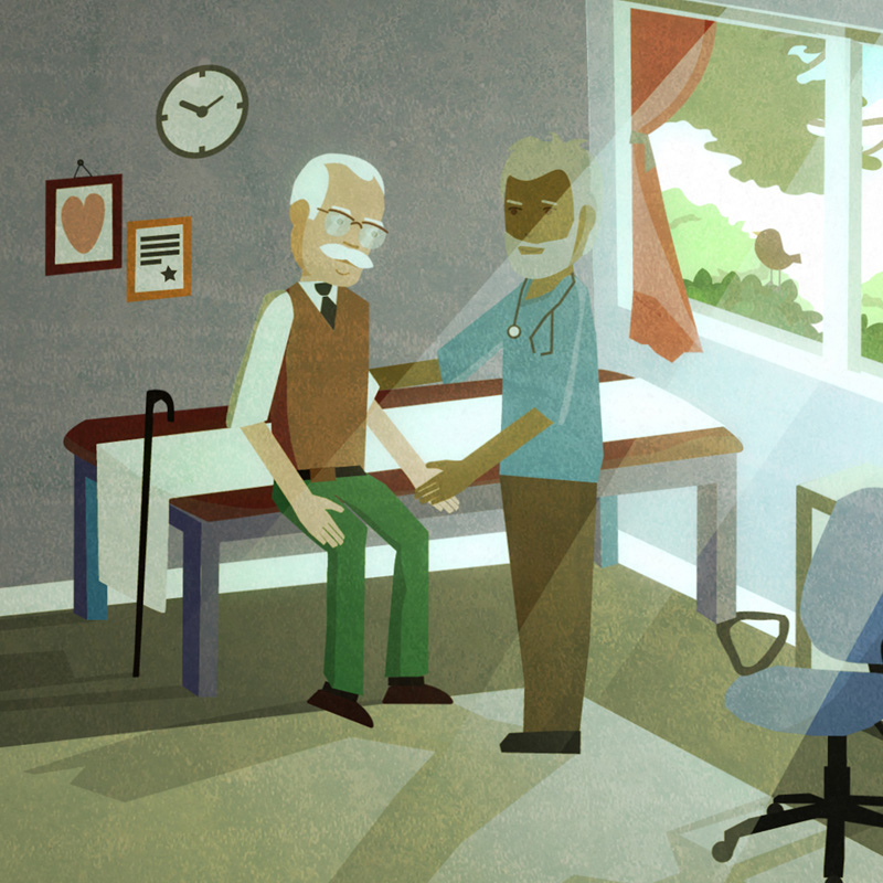Doctor visit illustration