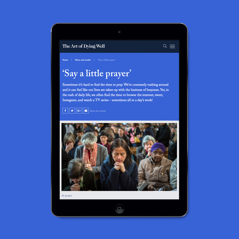 Ipad example content page