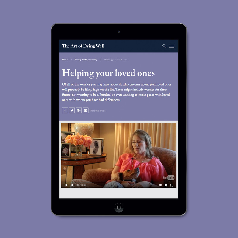 Ipad example video page