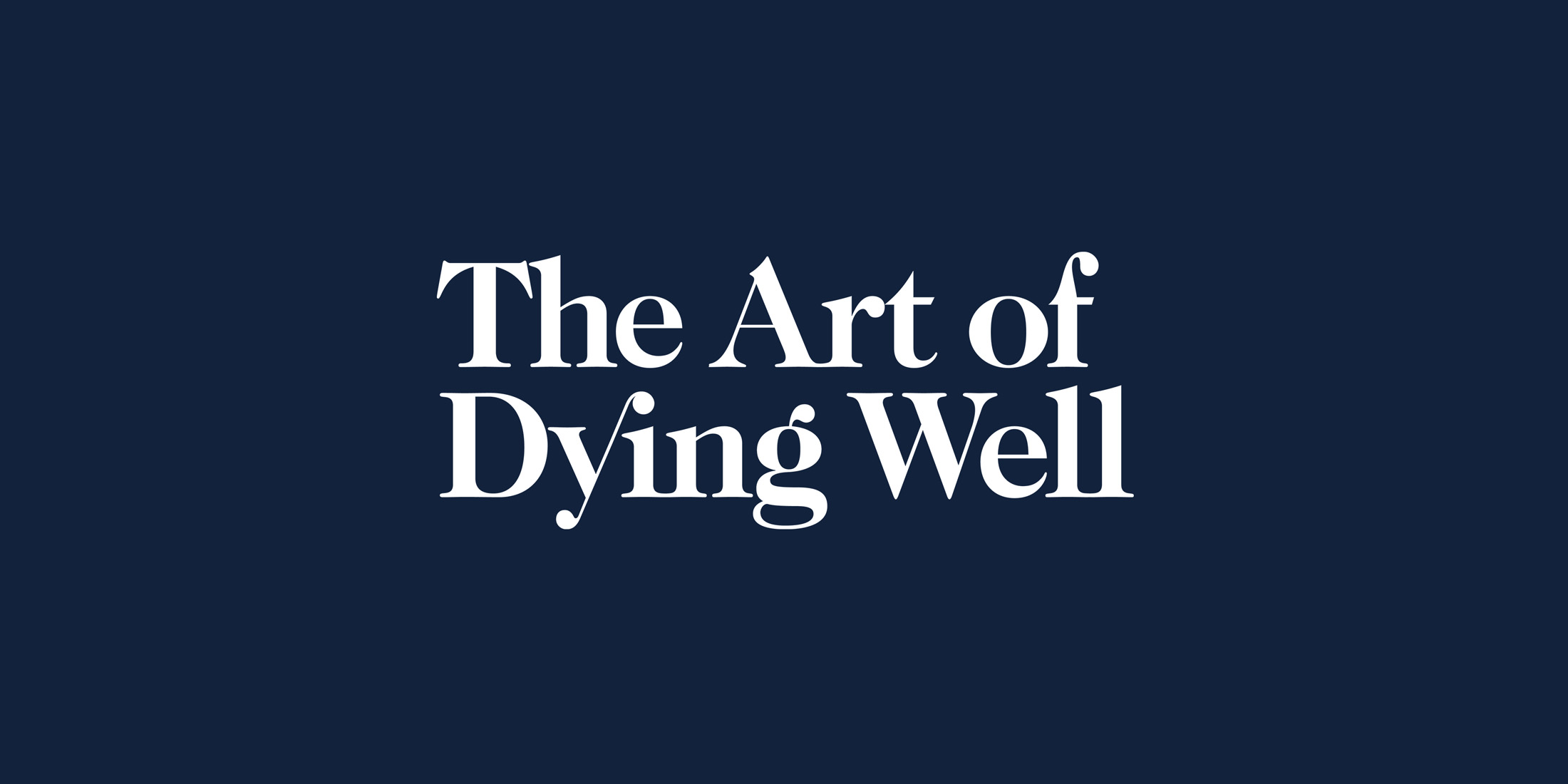 The Art of Dying Well logo