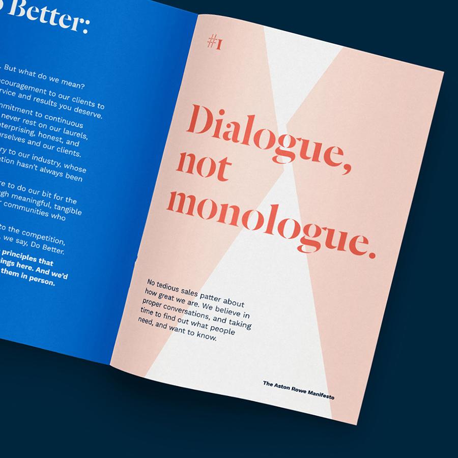 Aston Rowe manifesto page
