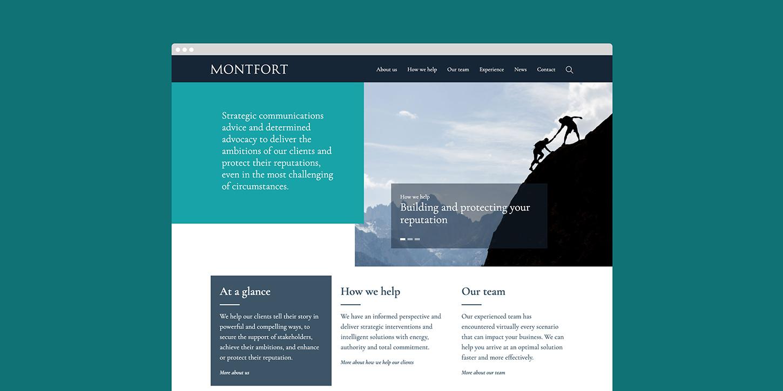 Monfort website home page
