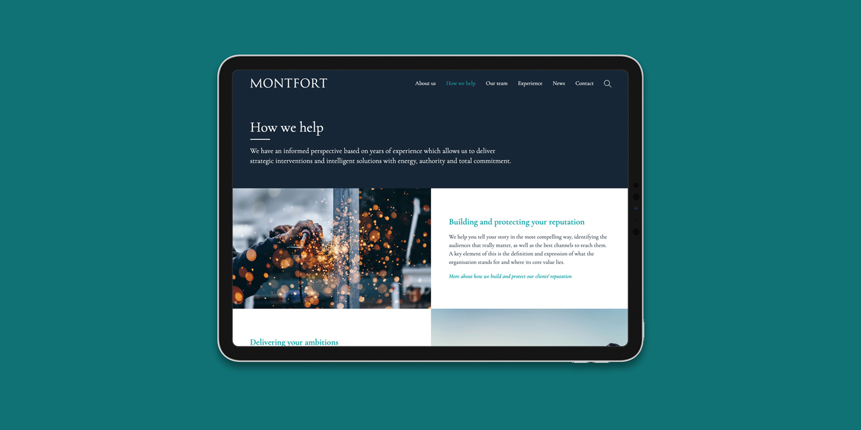 Monfort website service page